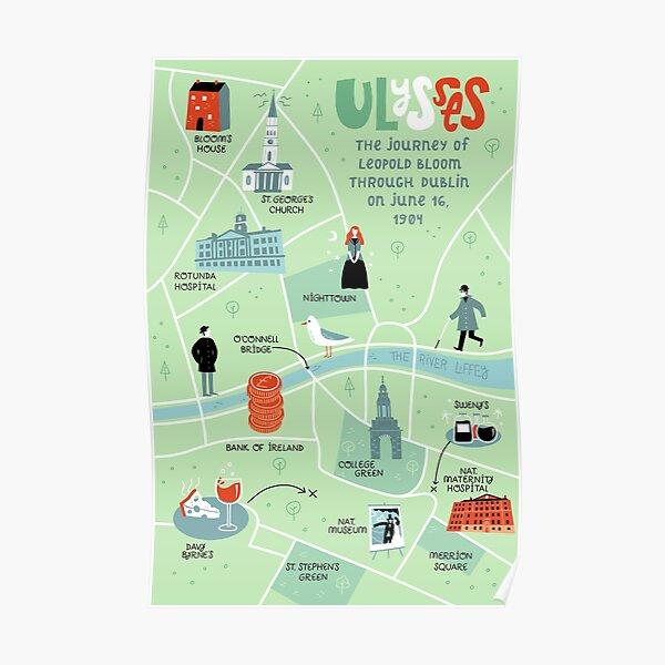 Ulysses Map Poster