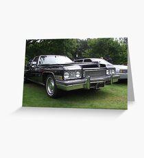 Black Cadillac 1972 Car Greeting Card