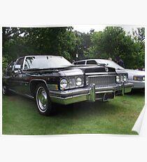 Black Cadillac 1972 Car Poster