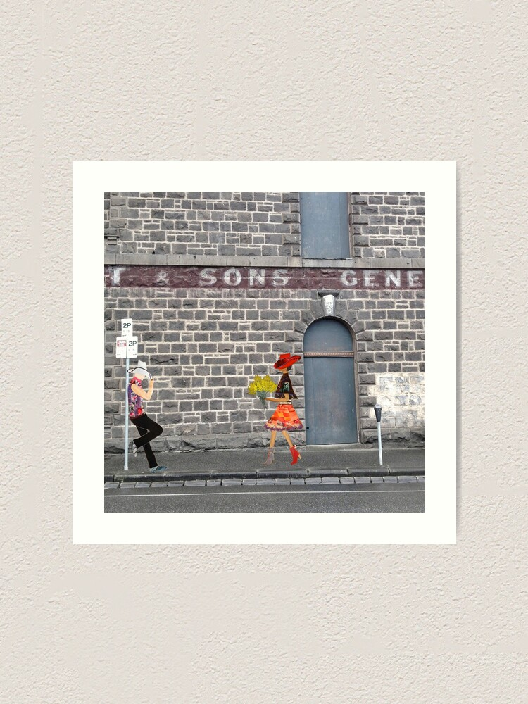Alternate view of Love on Camp Street  Art Print