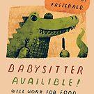 Krokodil Babysitter von louros