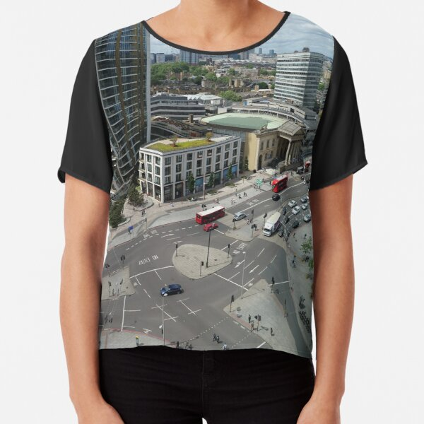 Roundabouts in London for free flow of traffic Chiffon Top