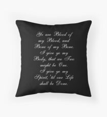 Outlander Wedding Vows Throw Pillow