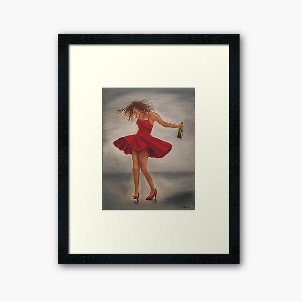 Dance like nobody's watching Framed Art Print