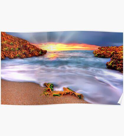 Sunset over Seaside Robe Poster