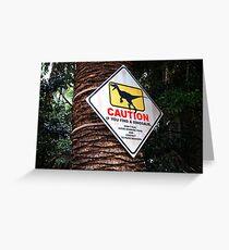 Warning Dinosaurs! Greeting Card