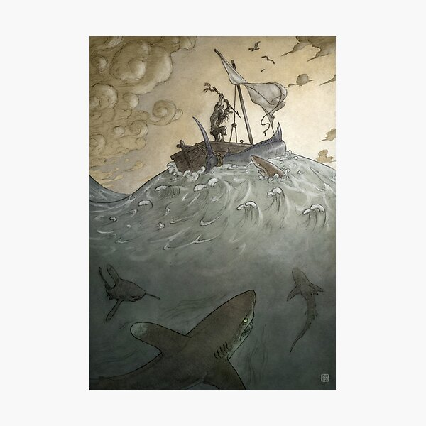 Ay Galanos! - The Old Man and the Sea Photographic Print