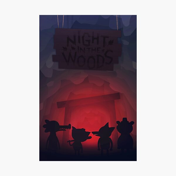 Night in the woods mine Photographic Print