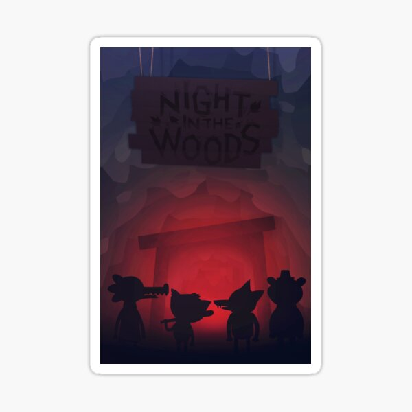 Night in the woods mine Sticker
