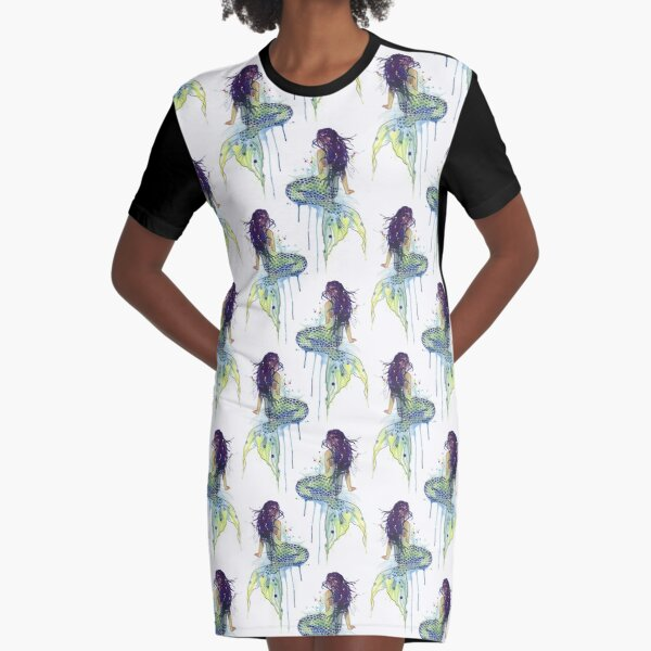 Mermaid Graphic T-Shirt Dress