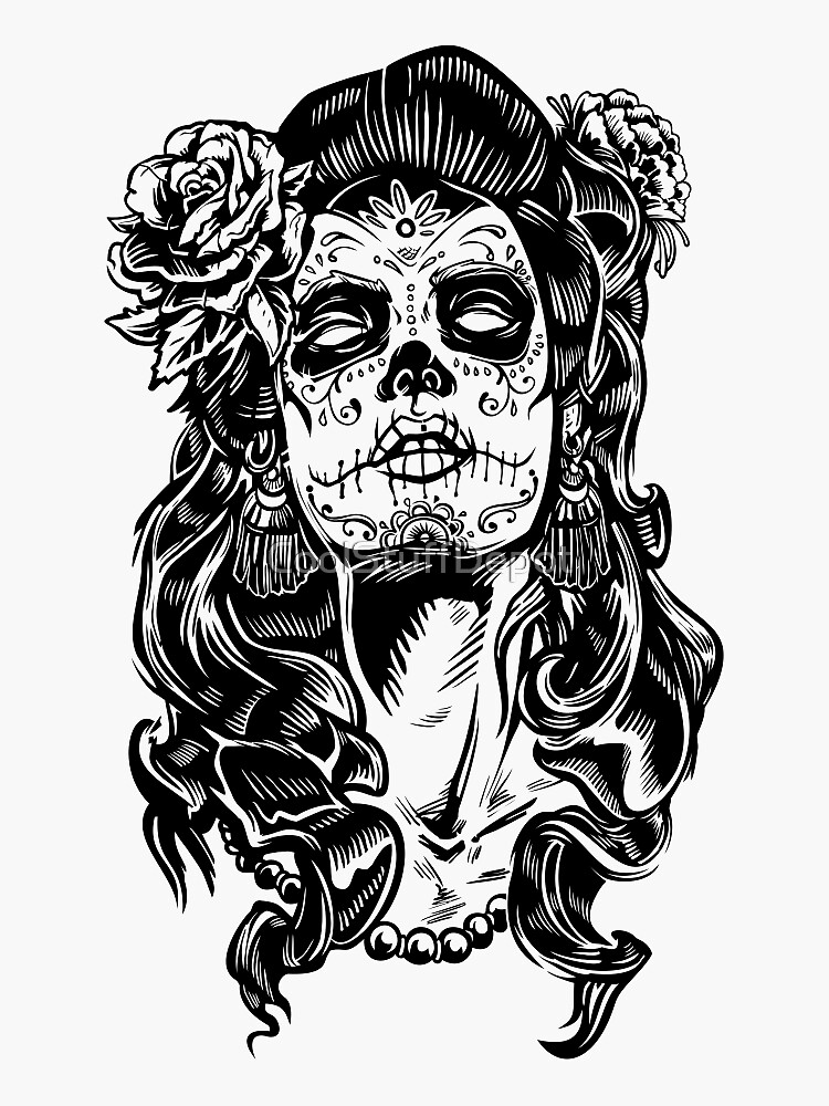 Mexican Tattoo Woman Day Of The Dead by CoolStuffDepot