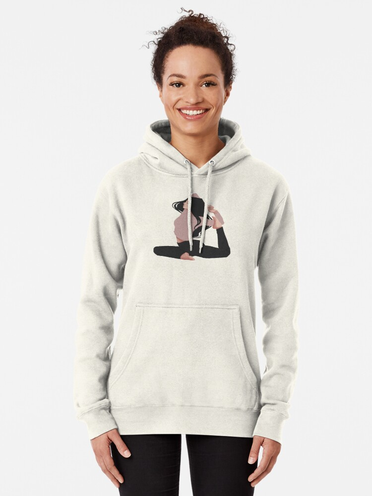 Yoga Clothing For You Ladies Pink Peace Tri-Blend Hoodie