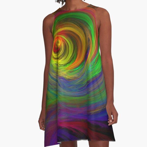 Madman's Sunrise - Apophysis Fractal Flame A-Line Dress