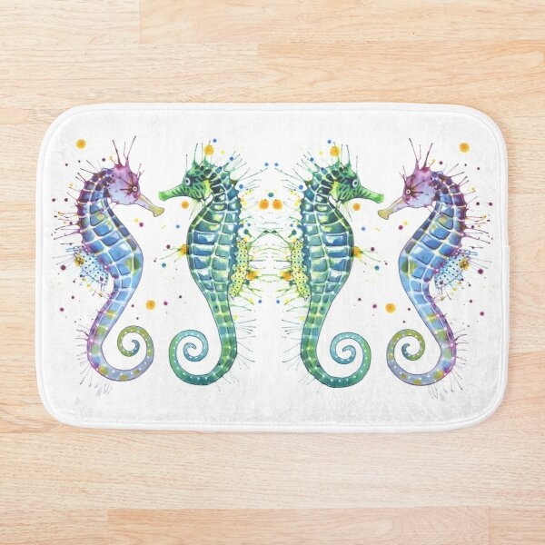 Guardians of the Sea - Seahorse Bath Mat