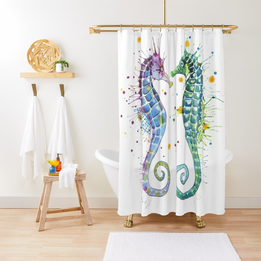 Guardians of the Sea - Seahorse Shower Curtain