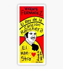 Vicente Fernandez Mexico Pop Folk Art Sticker