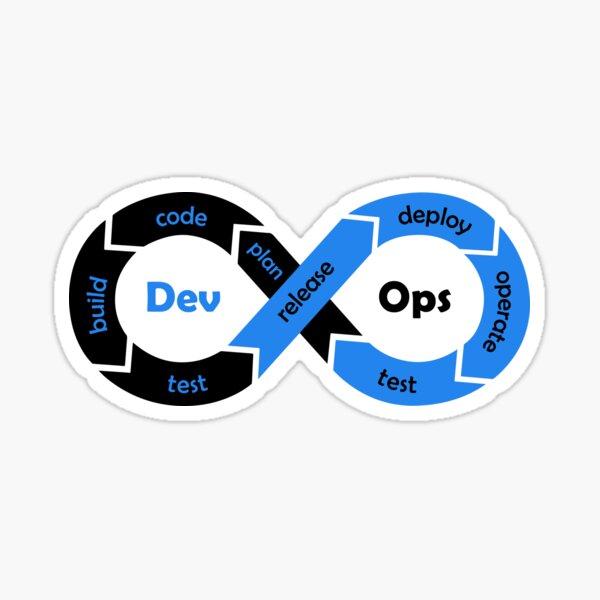 DevOps Sticker - Black Blue Sticker