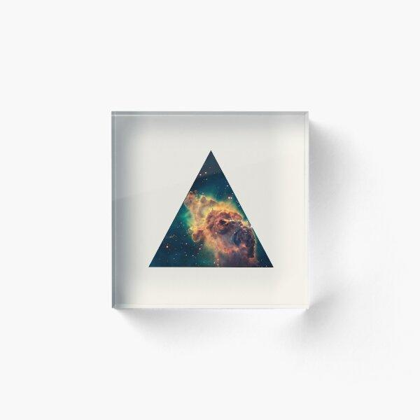 Galaxy Triangle Acrylic Block