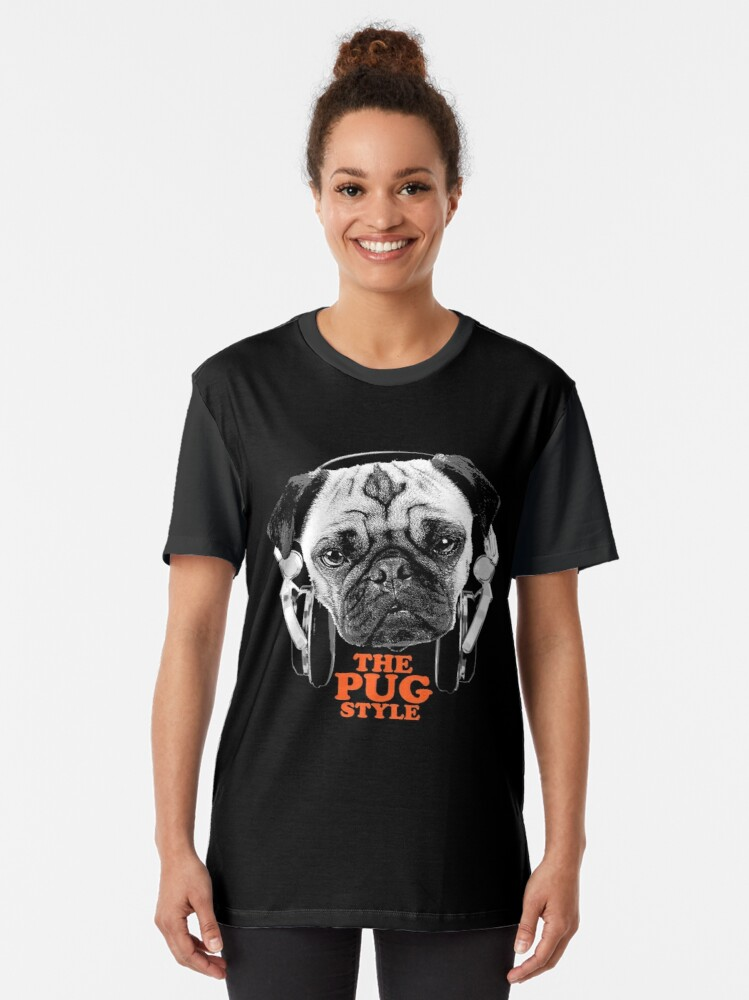 Alternate view of The Pug Style Graphic T-Shirt