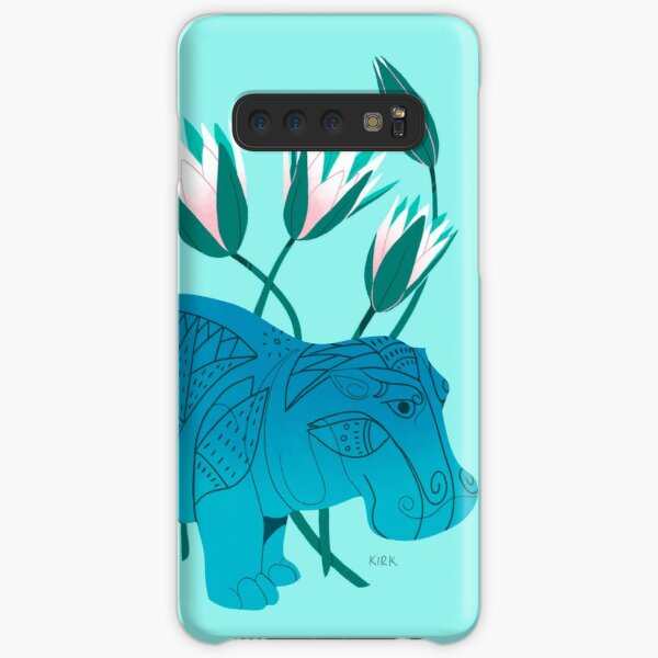 Faience Hippo - Floral Artefacts Samsung Galaxy Snap Case