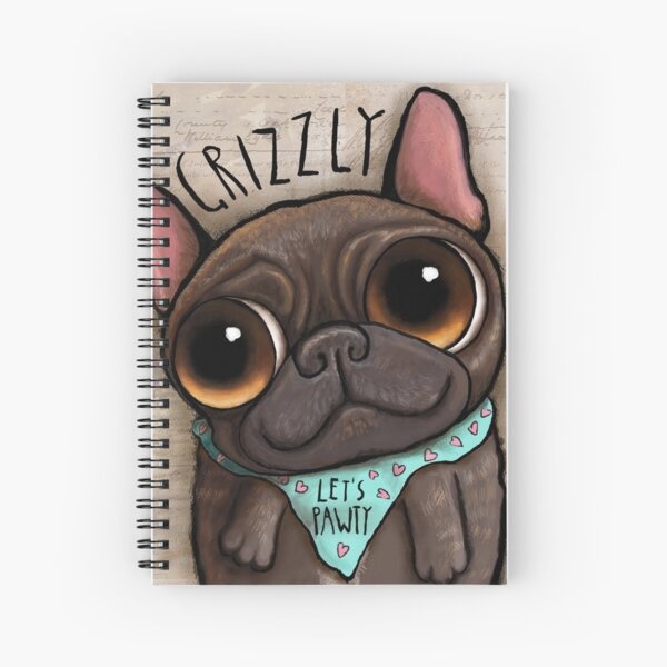 My friend Grizzly French bulldog Spiral Notebook