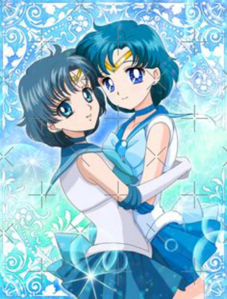 Sailor Mercury 2D and 3D  by dakotarees90