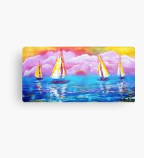 Cotton Candy Cove Canvas Print
