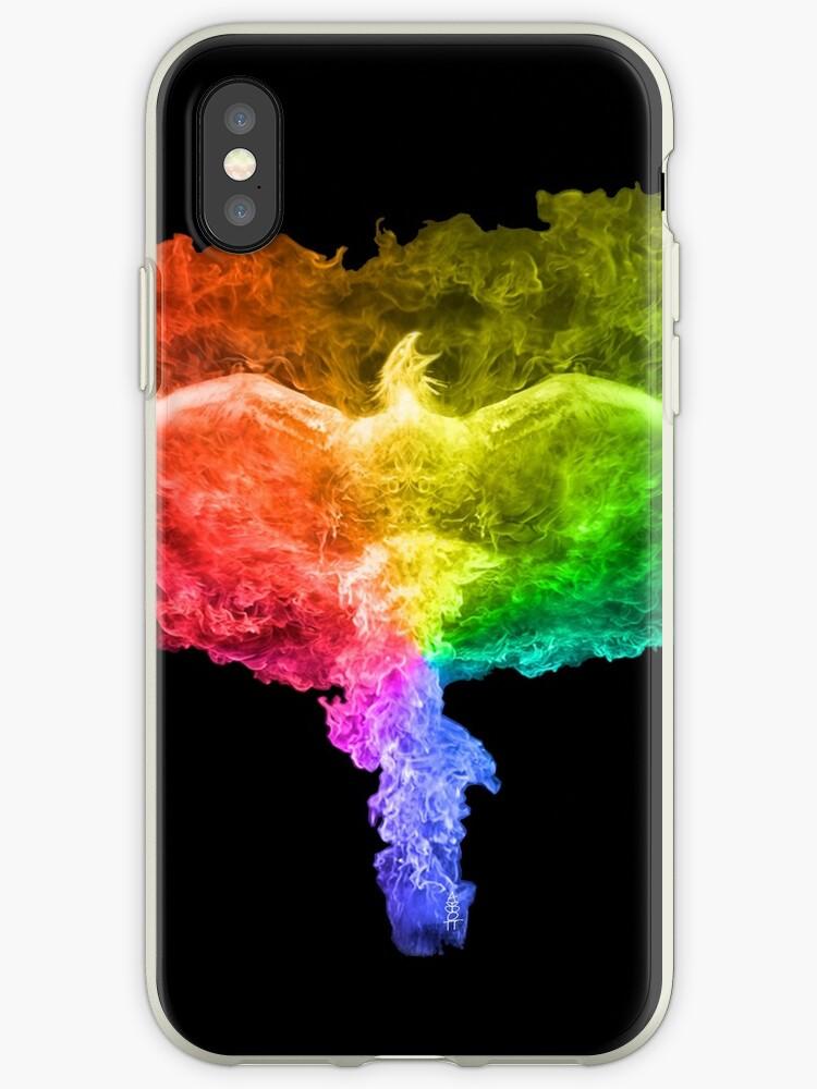 42df93b45f923 'Rainbow Phoenix' iPhone Case by AbbottDesigns
