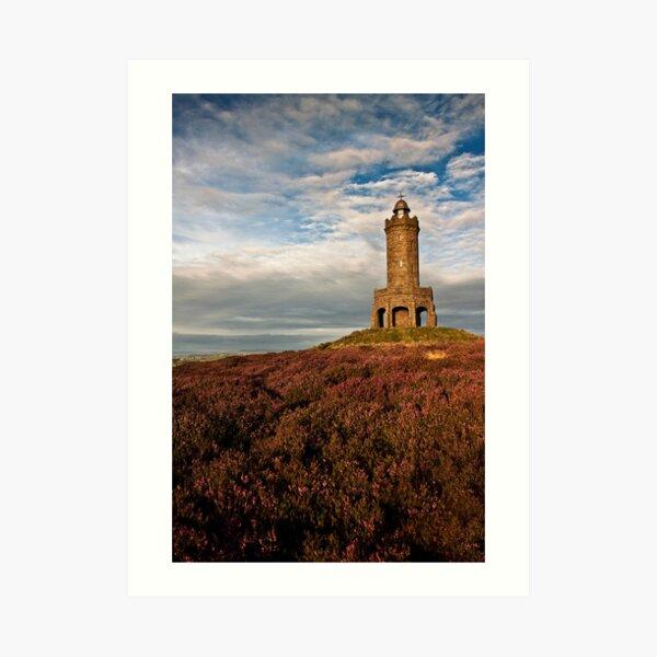 Darwen Tower in late summer Art Print