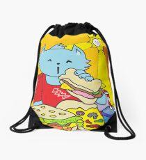 Fast Food Cat Drawstring Bag