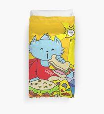 Fast Food Cat Duvet Cover