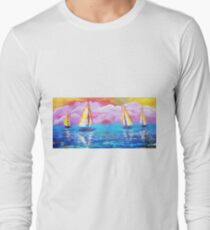 Cotton Candy Cove Long Sleeve T-Shirt