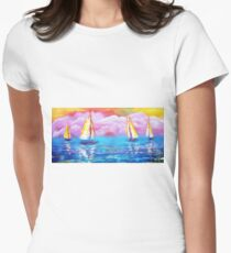 Cotton Candy Cove Women's Fitted T-Shirt