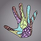 Abstract Doodle Hand by Mannykat8x