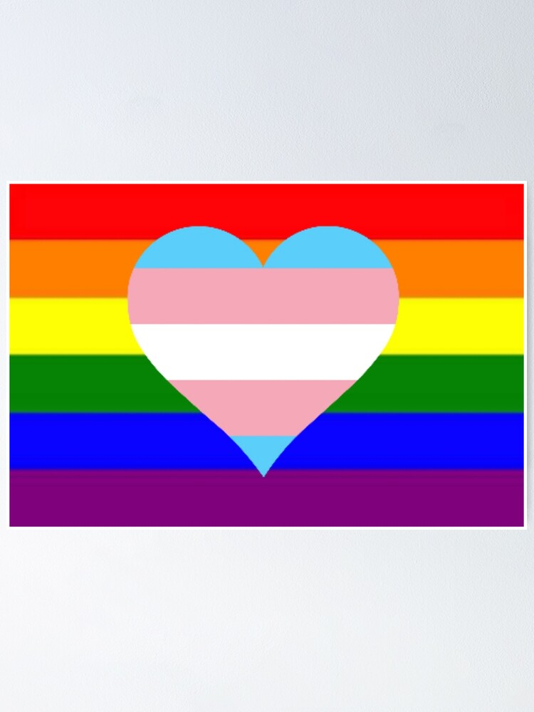 Gay Trans Flag Pride Merchandise Poster By Queerwriter Redbubble