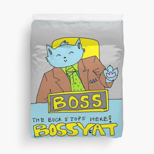 Boss Cat Duvet Cover