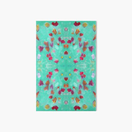 Abstract Turquoise Floral Art Board Print