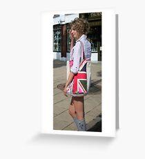 Love that flag... Pretty girl too... Greeting Card
