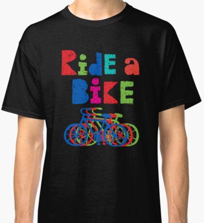 Ride a Bike sketchy - black T  Classic T-Shirt