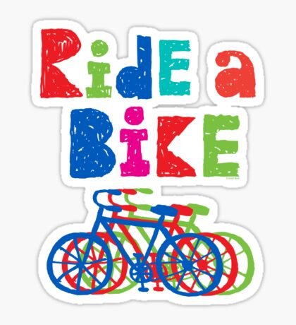 Ride a Bike sketchy - black T  Sticker