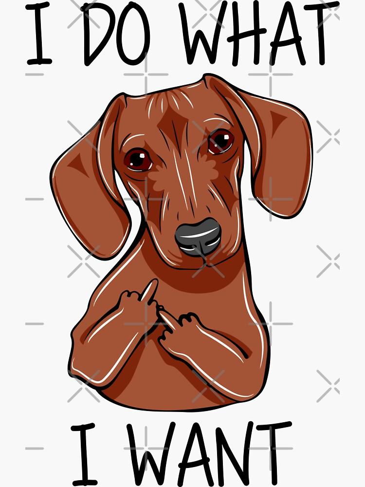 Funny Dachshund I Do What I Want by DogsHearted