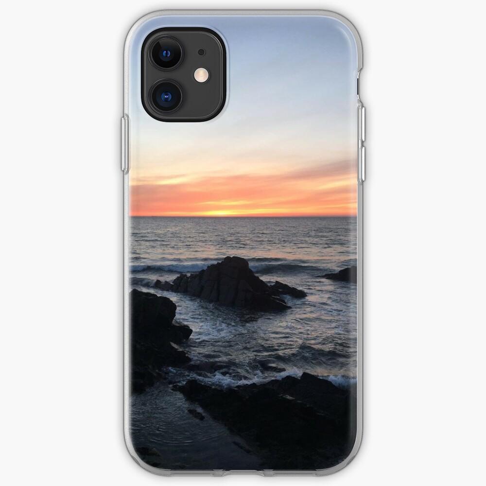 Sunset over Putsborough iPhone Soft Case
