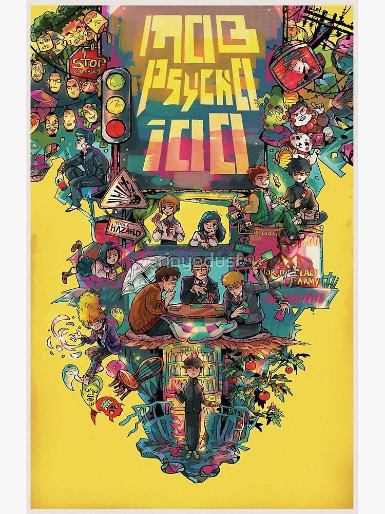 Mob Psycho 100 retro Poster by erinyedust