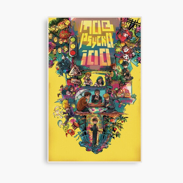 Mob Psycho 100 retro Poster Canvas Print