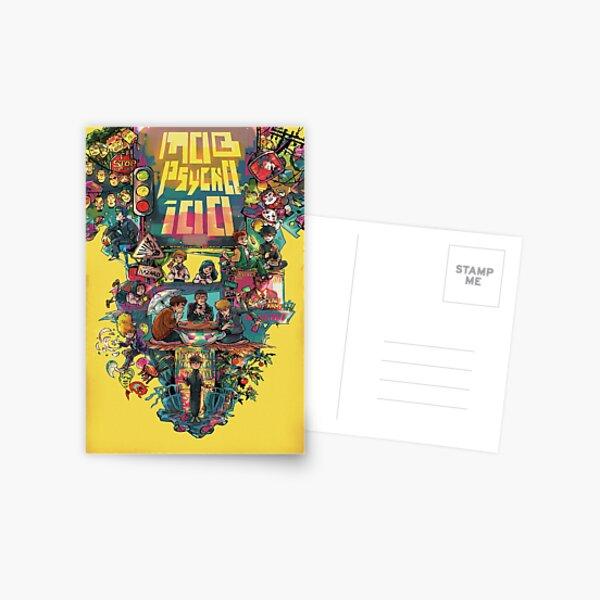 Mob Psycho 100 retro Poster Postcard