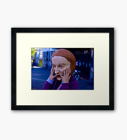 The Julia Gillard Blues Framed Print