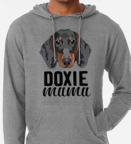 Doxie mama - dog mom, dog mama, doxie mama, dog mom shirt, tricolored, doxie, cute dog, dog  Lightweight Hoodie
