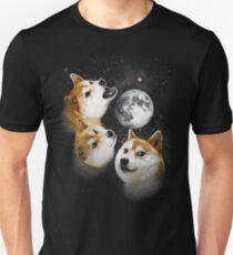 Three Doge Moon Unisex T-Shirt