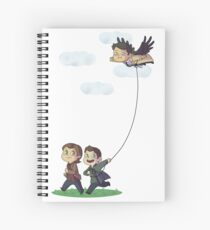 Team Free Kite Flying Spiral Notebook