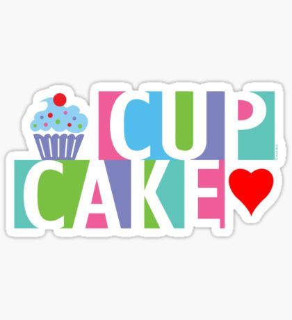 Cupcake love pink 4 Sticker